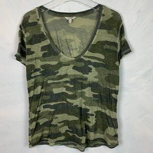 Lucky Brand Camo Burnout T-shirt Size XL